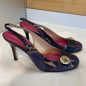 NWOT Kate Spade Purple Slingback Heels